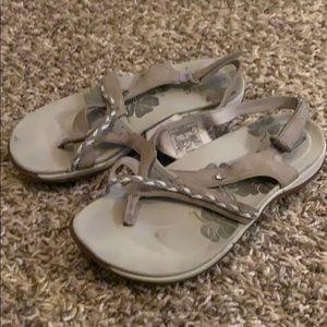 MERRELL StellaBloom Aluminum beige Sandals 6